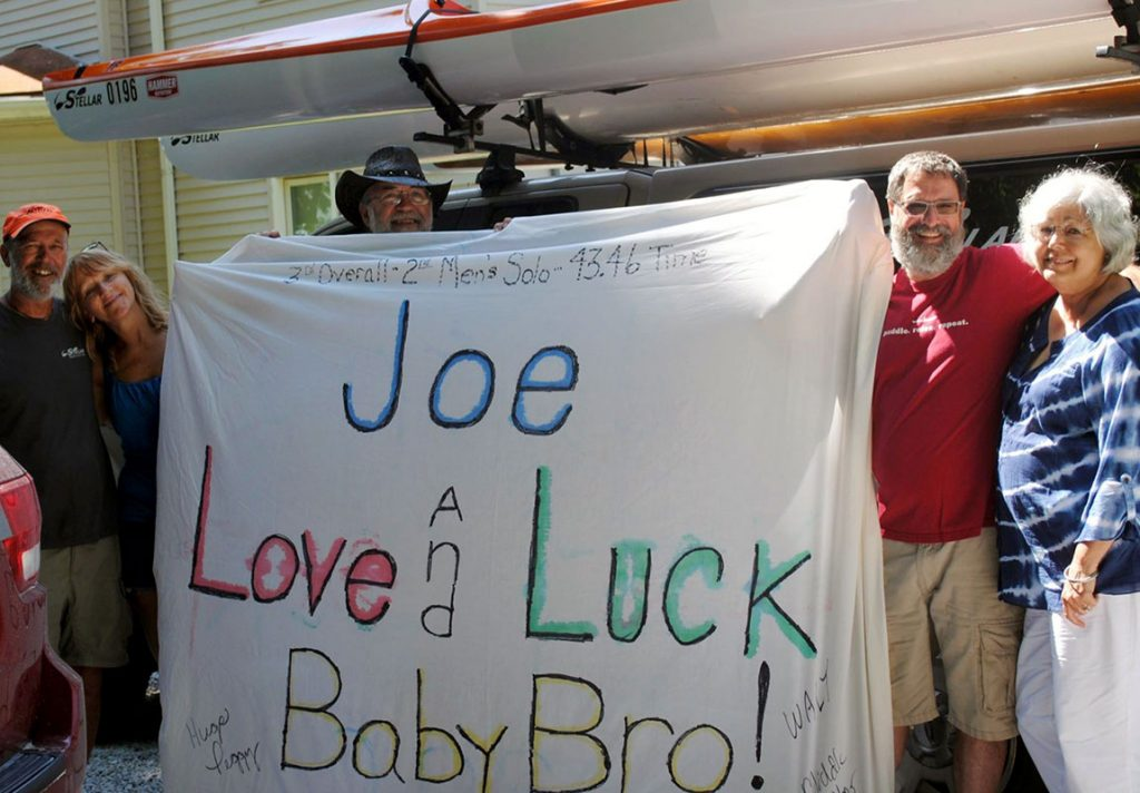 Good luck Joe banner.