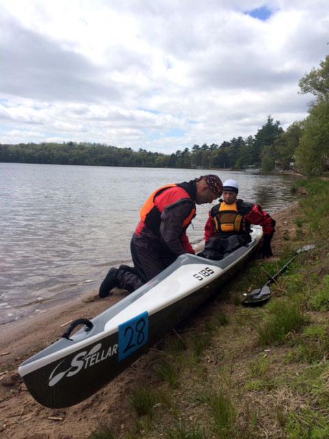 Joe and a kayak.