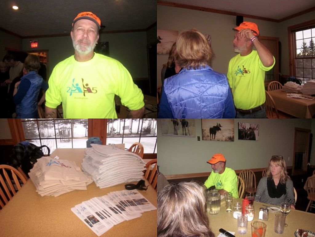 Picture collage 1: 2 Paddling 5 Sendoff Party with the Grand Marais Paddling Club.