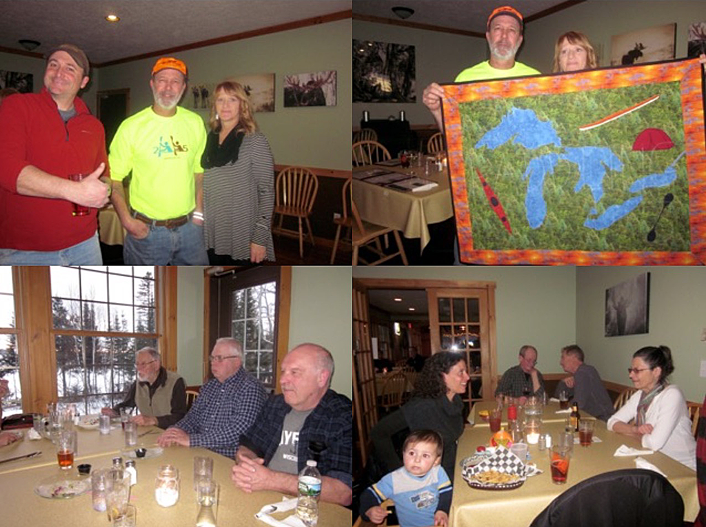 Picture collage 2: 2 Paddling 5 Sendoff Party with the Grand Marais Paddling Club.
