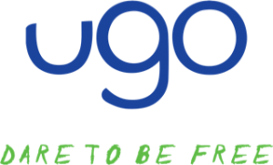 ugo: Dare to be Free logo.