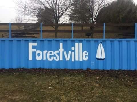 Forestville Michigan sign.
