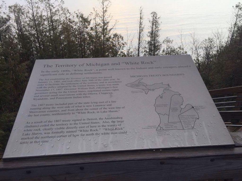 White Rock Michigan sign.