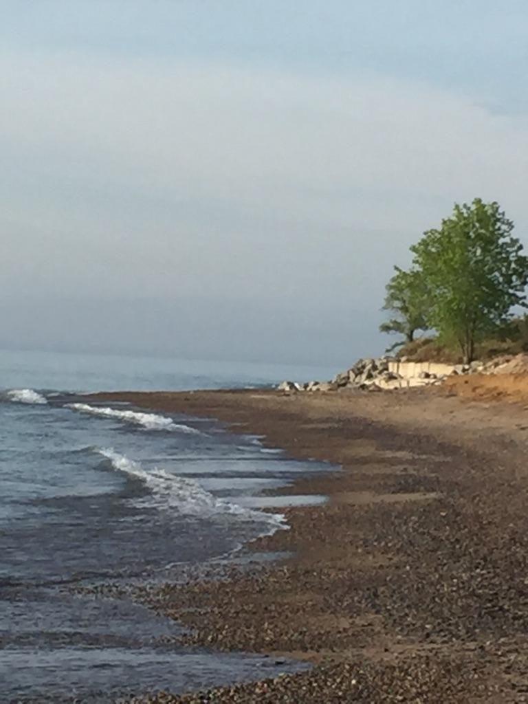 The Illinois Beach State Park beach in Zion Illinois.