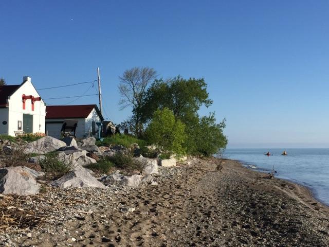 Illinois Beach State Park houses and kayaks.