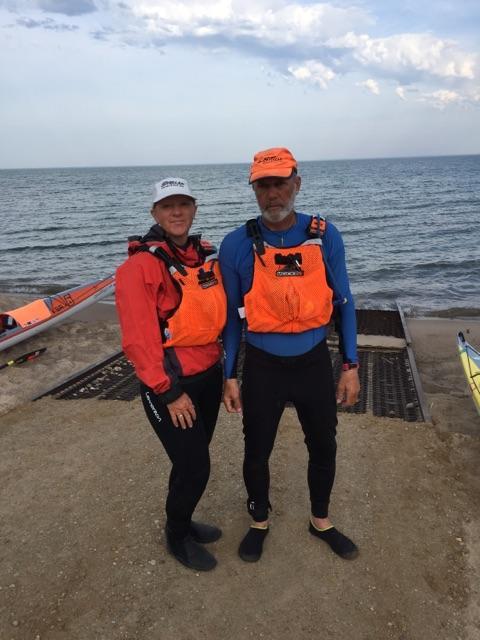 Peggy Gabrielson and Joe Zellner by Lake Michigan.