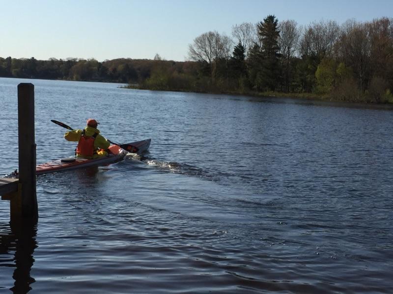 Kayak launch from Duck Lake State Park Michigan.