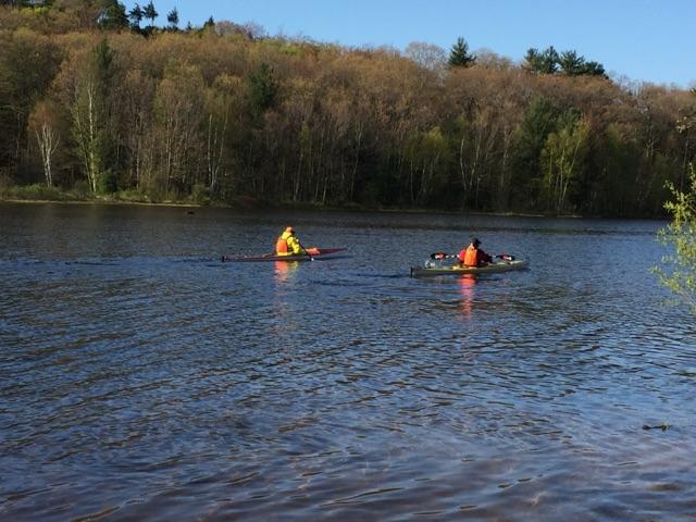 Kayaking in Duck Lake State Park, Michigan.