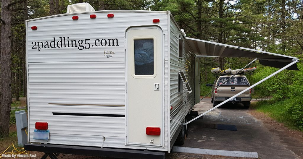 The 2 Paddling 5 camper at the Kohler-Andrae State Park campground.