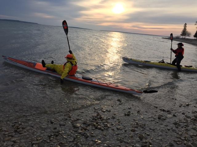 Macinaw Michigan kayak launch in the morning of 4/23/17.