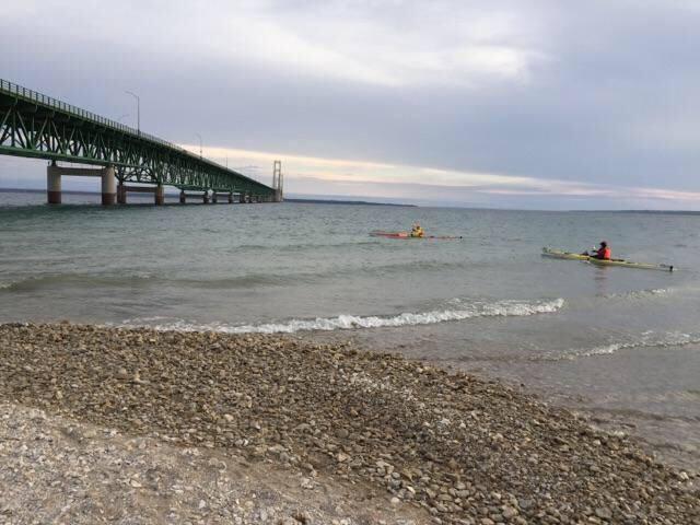 2 Paddling 5 kayaking at the Mackinac Bridge Mackinaw City, MI 49701.