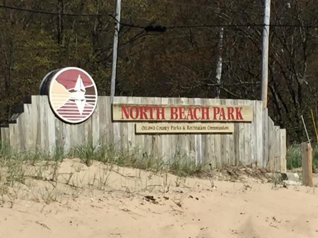 North Beach Park sign.