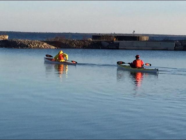 Rock harbor Michigan kayak launch.
