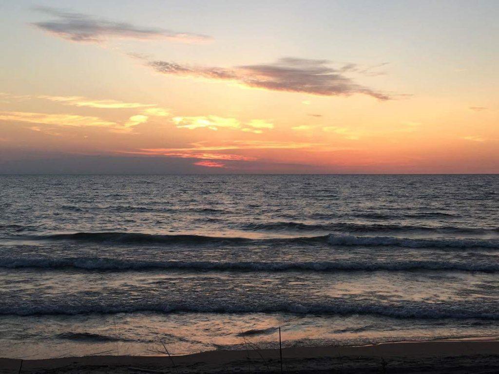 Lake Michigan sunset near Van Buren, Michigan.