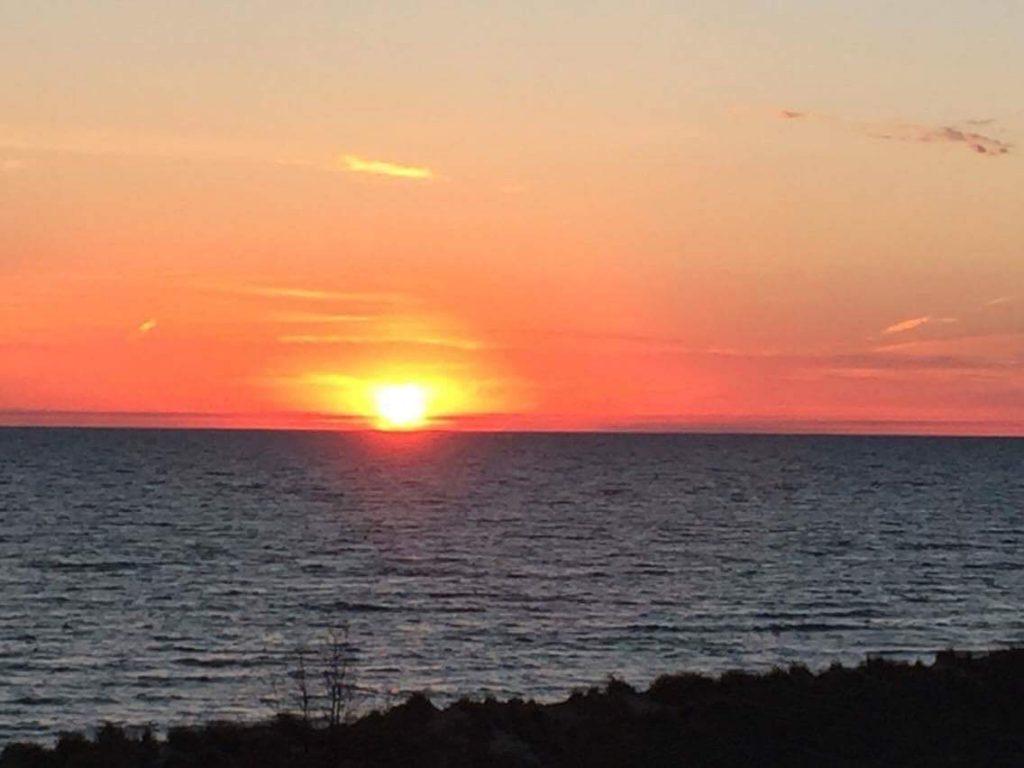 Warren Dunes State Park sunset.