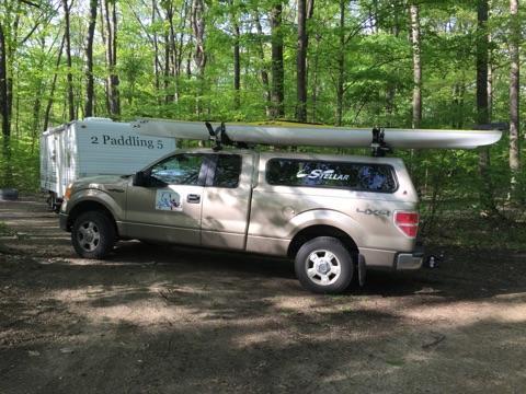 2 Paddling 5 truck and camper at Weko Beach Park, Michigan.