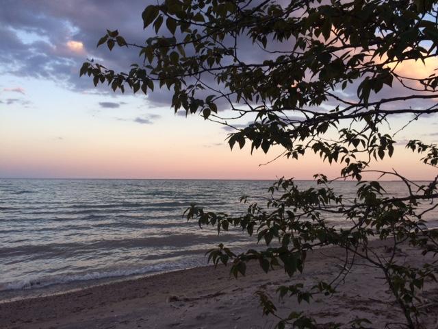 Morning Sunrise near Kewaunee, Wisconsin.