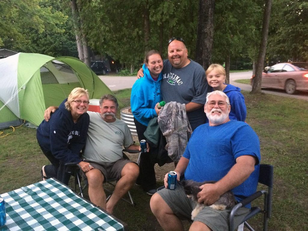 New friends at Straits State Park, St. Ignace, Michigan.
