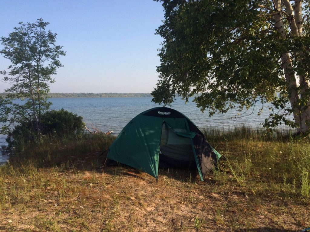 Island camping 5 miles out of Sault Ste. Marie.