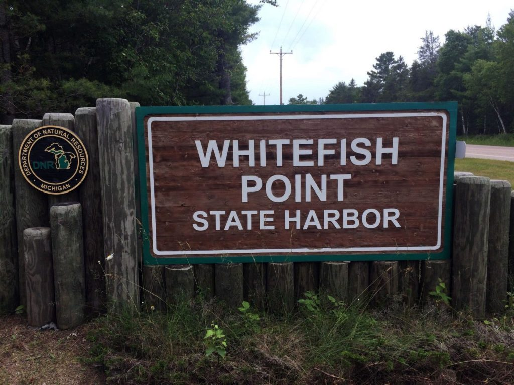 Whitefish Point State Harbor sign (DNR Michigan).