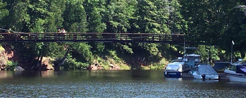 Black River Harbor Suspension Bridge Ironwood, Michigan 49938.