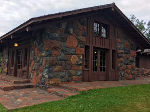 Civilian Conservation Corps building on the Gooseberry River.
