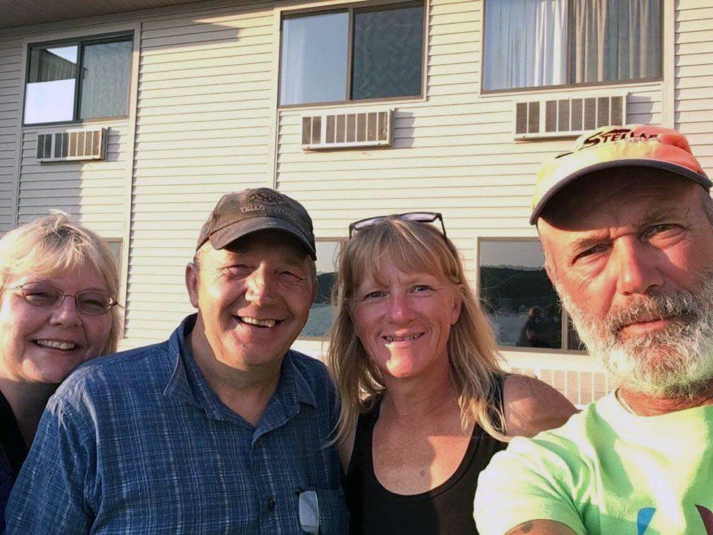 Joe and Sheila Tormala with Joe and Peggy of 2 Paddling 5. Joe Tormala served in Iraq with Dan Gabrielson.