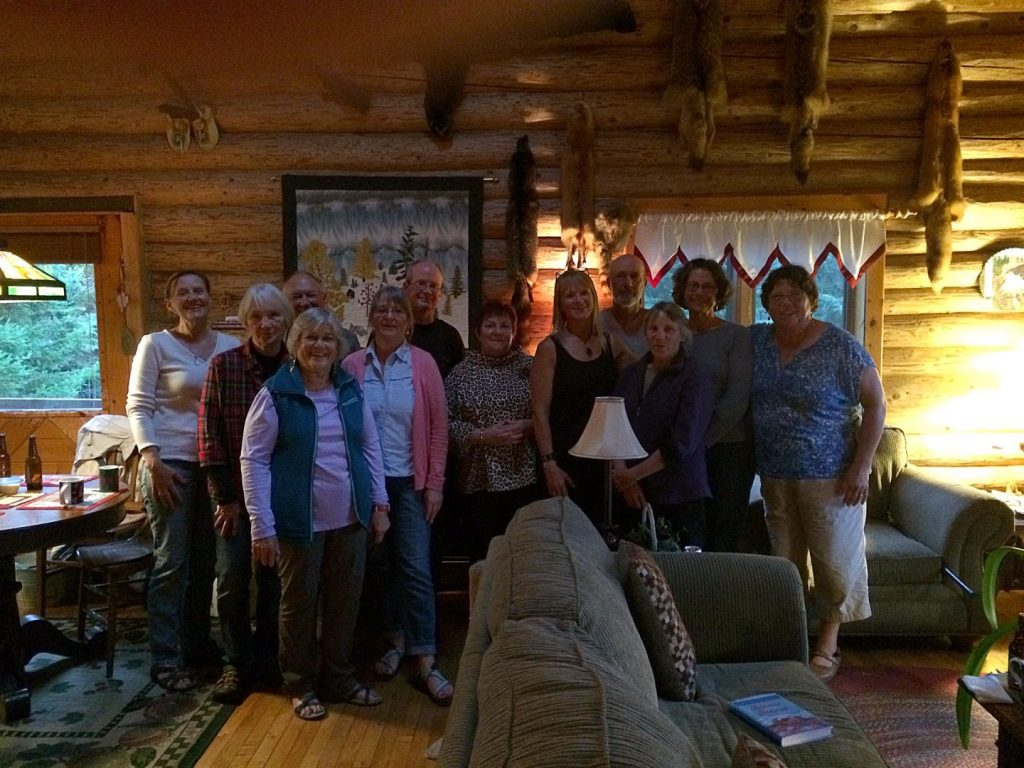 Paddling group in Grand Marais, Minnesota.