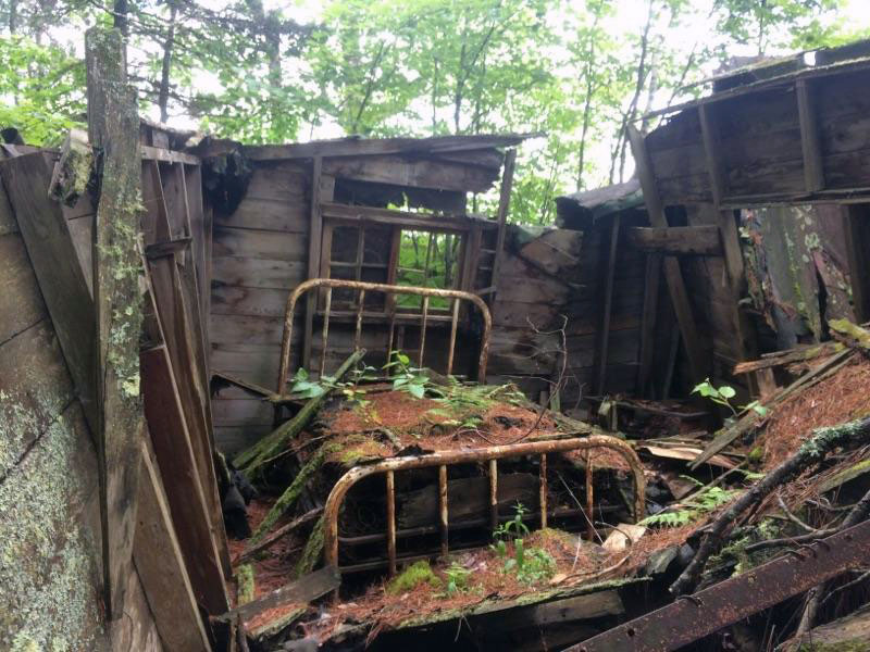 A rusted bed in an old abandoned cabin just outside Ontonagon, Michigan.