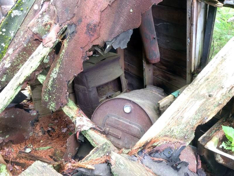 The stove in an old abandoned cabin just outside Ontonagon, Michigan.
