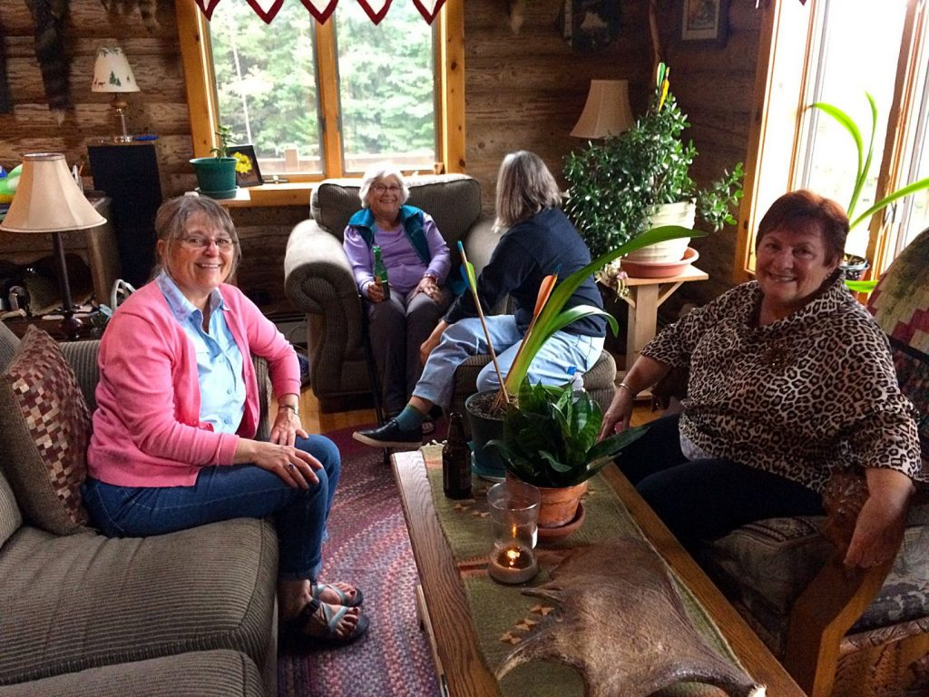 Women of the Paddling Group at Joe Zellner's house party.
