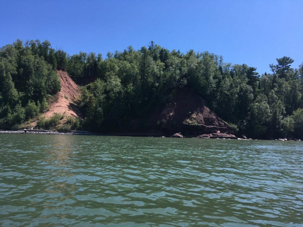 Shoreline heading towards Port Wing, Wisconsin.