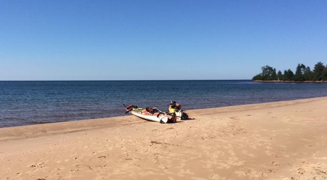 Private beach 10 miles from Marquette, Michigan.