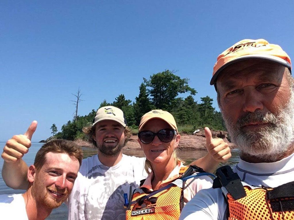 Kayak guides Ryan and Adam with 2 Paddling 5. Ryan and Adam plan to paddle all of Lake Superior in Summer 2018.