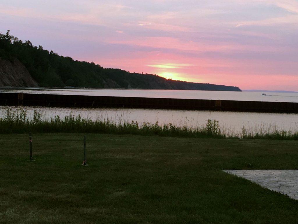 Sunset at Saxon Harbor, Wisconsin.