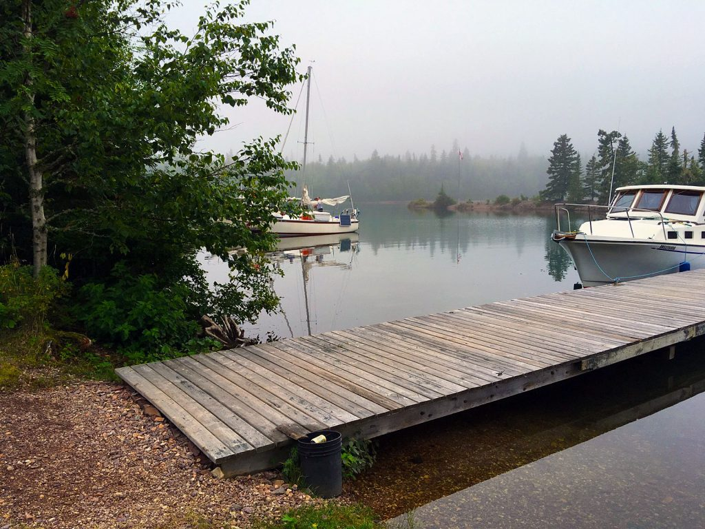 A dock at the CPR Slip, St. Ignace Island on Lake Superior.