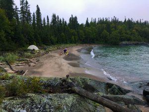 Last campsite Ripple, Ontario, Canada.