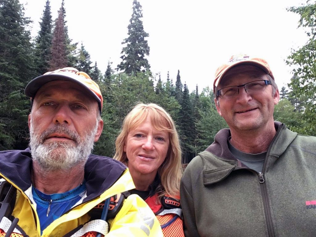 Loren from Nipigon with Joe and Peggy at the CPR Slip.