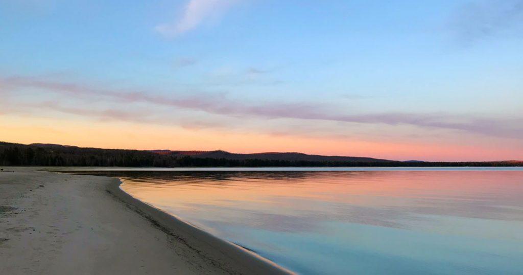 Lake Superior sunrise.