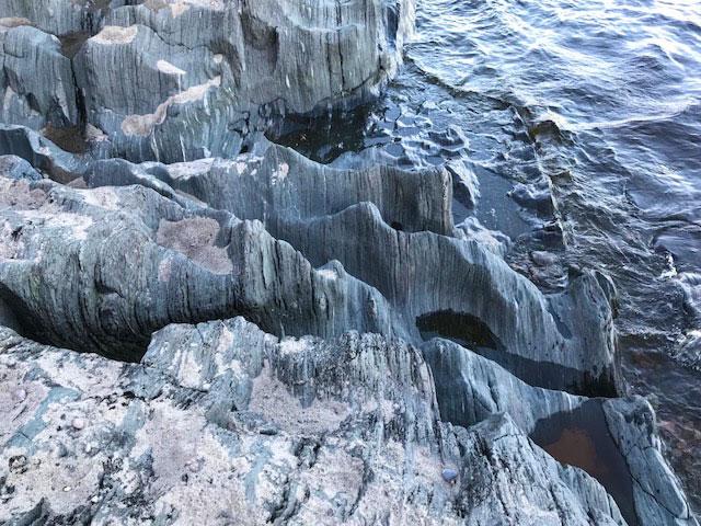 Lake Superior rocky shoreline.