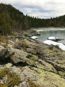 Lake Superior Provincial Park rocky beach.