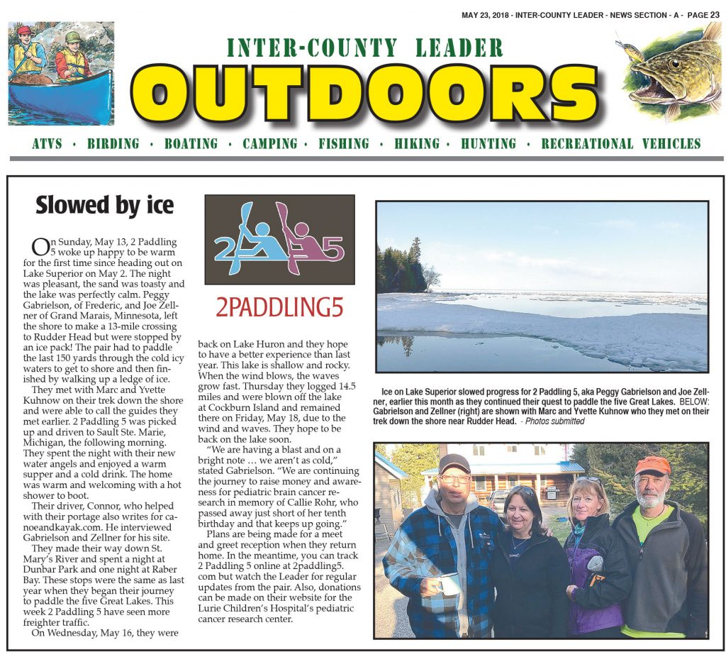 Inter-County Leader OUTDOORS: May 23rd, 2018 Section A, page 23.